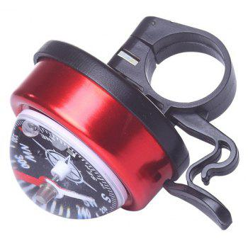 LEADBIKE 5 Colors Aluminum alloy and Plastic Bicycle Compass Bell Cyclin Handlebar Ring Horn Mountain Road Bike Alarm - RED