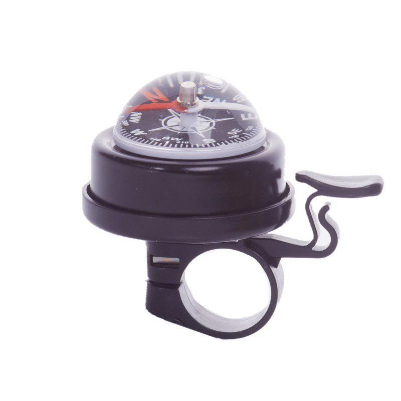 LEADBIKE 5 Colors Aluminum alloy and Plastic Bicycle Compass Bell Cyclin Handlebar Ring Horn Mountain Road Bike Alarm - BLACK