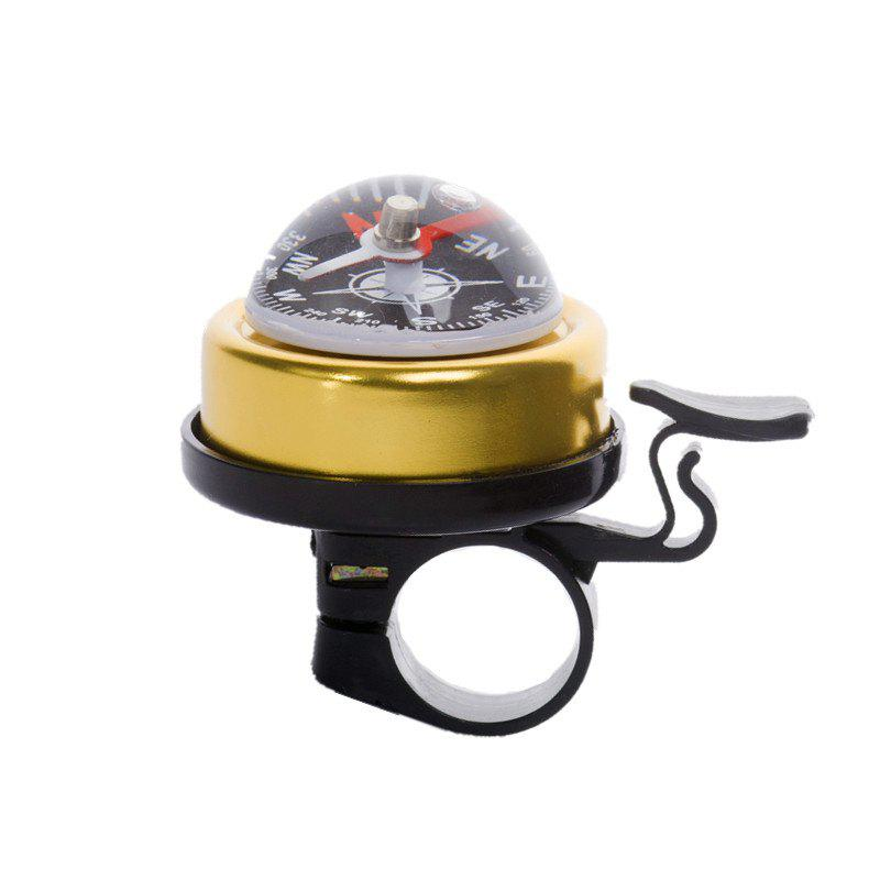 LEADBIKE 5 Colors Aluminum alloy and Plastic Bicycle Compass Bell Cyclin Handlebar Ring Horn Mountain Road Bike Alarm - YELLOW