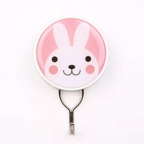 Cartoon Creative Powerful Suction Hook Can Be Repeatedly Used - LIGHT PINK 6X10.3X2CM