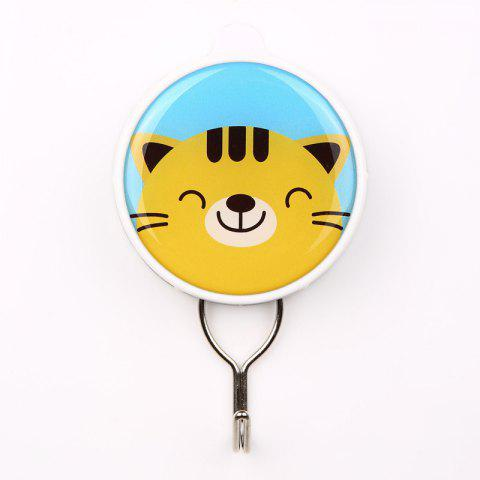Cartoon Creative Powerful Suction Hook Can Be Repeatedly Used - YELLOW 6X10.3X2CM