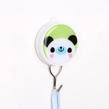 Cartoon Creative Powerful Suction Hook Can Be Repeatedly Used - GREEN 6X10.3X2CM
