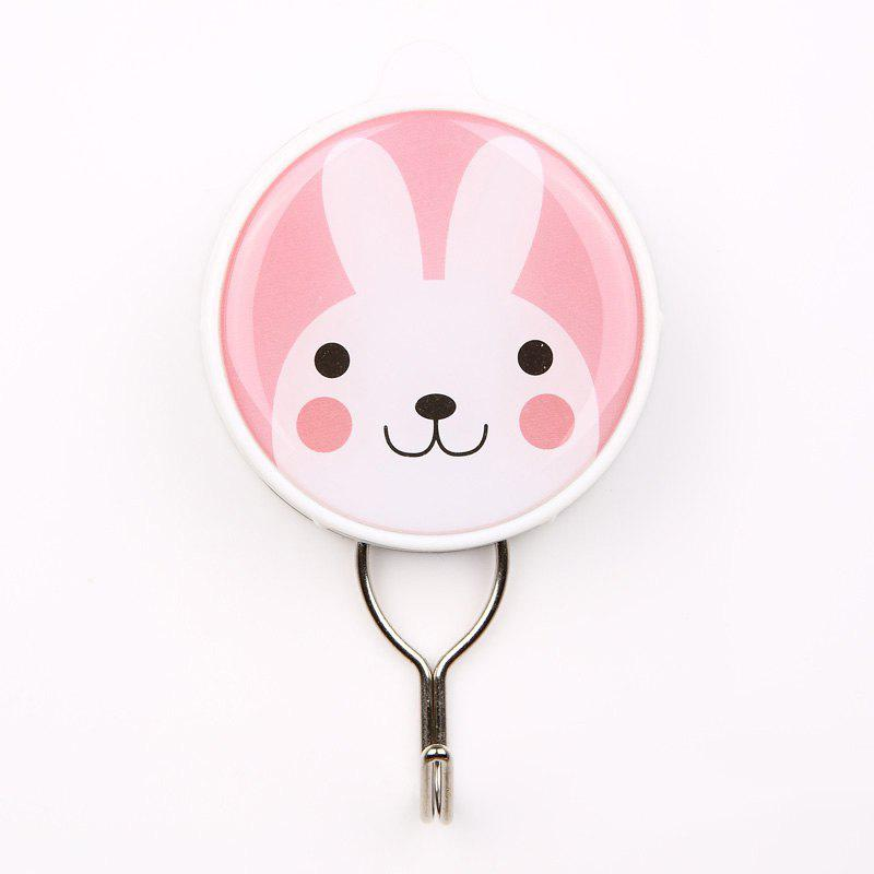 Cartoon Creative Powerful Suction Hook Can Be Repeatedly Used - PINK 6X10.3X2CM