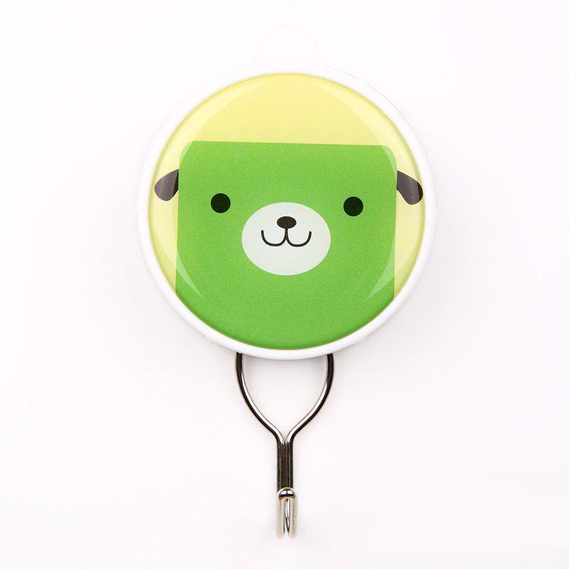 Cartoon Creative Powerful Suction Hook Can Be Repeatedly Used - YELLOW/GREEN 6X10.3X2CM