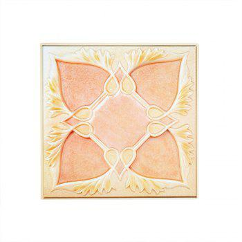 PVC Marble  Decorative Wall Stickers - PINK / YELLOW 30X30CM