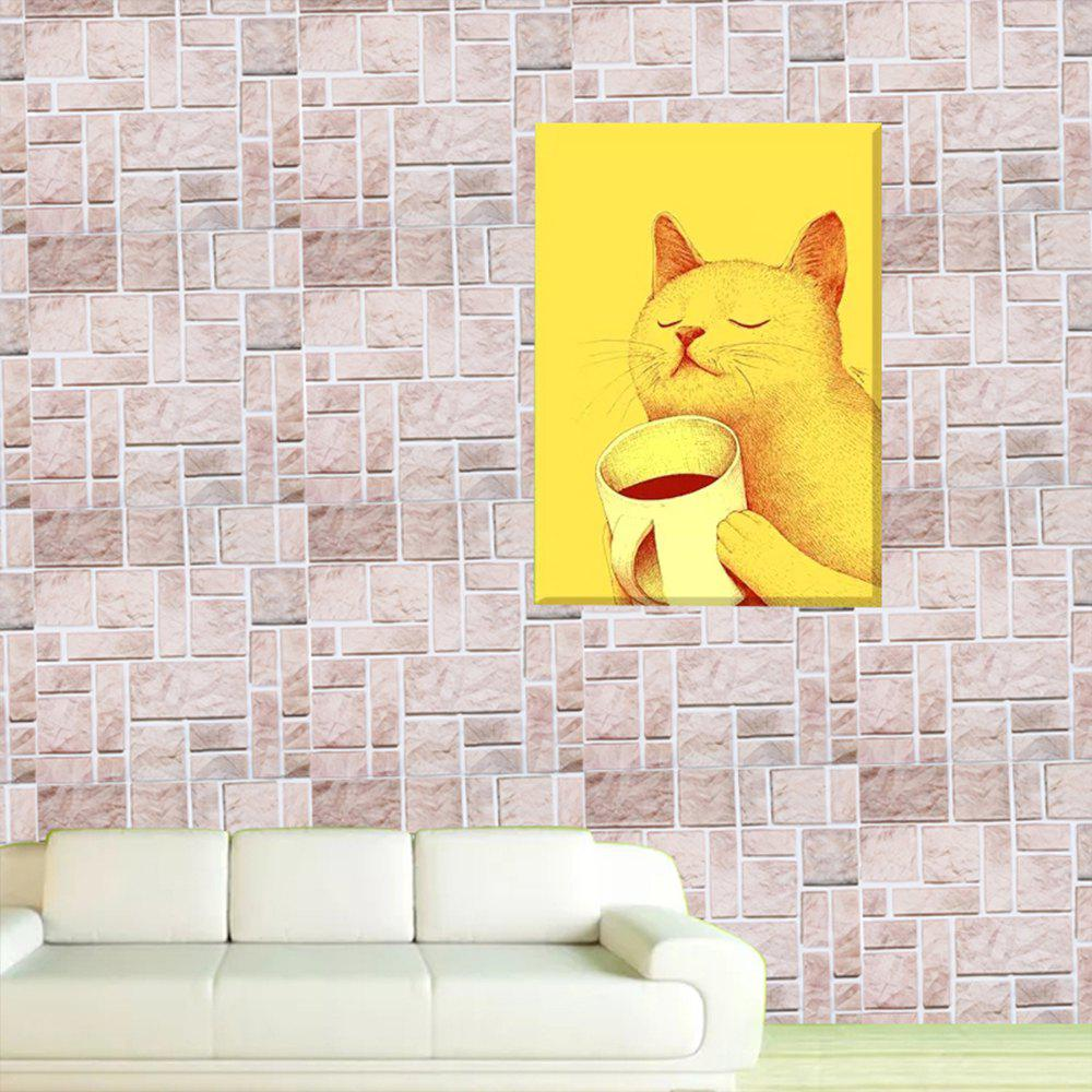 PVC Marble  Decorative Wall Stickers - PINK 30X30CM