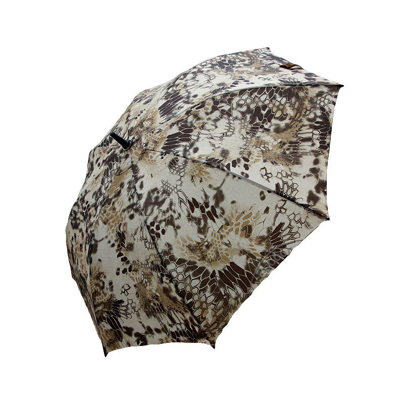 WARCHIEF  27-INCH Rod Python Camouflage Travel Umbrella Fashion Sunny High-End Umbrella - DESERT CAMOUFLAGE