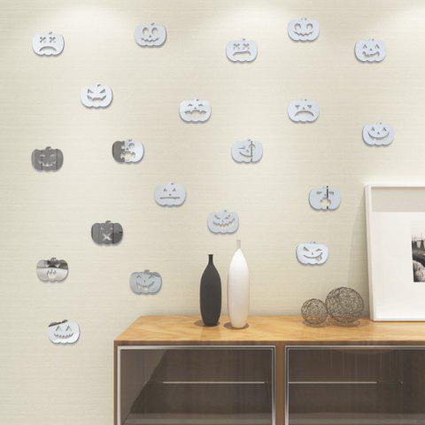 Halloween Jack-O -Lantern Stickers Decorate Bedroom Living Room 20PCS - SILVER 3X3.8