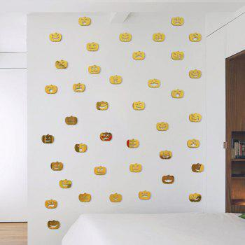 Halloween Jack-O -Lantern Stickers Decorate Bedroom Living Room 20PCS - GOLDEN 3X3.8