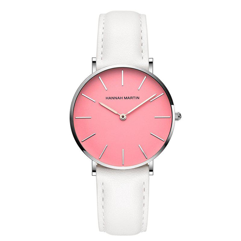 Hanna Martin CF03 Quartz Waterproof Ladies Casual Slim Fashion Watch - WHITE