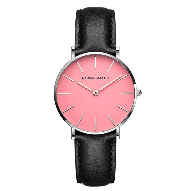 Hanna Martin CF03 Quartz Waterproof Ladies Casual Slim Fashion Watch - BLACK