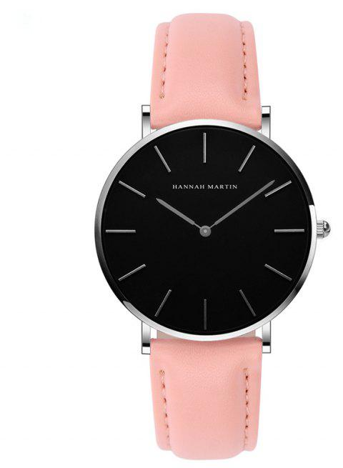 Hannah Martin CH36  Japanese Movement Waterproof Fashion Casual Ladies Quartz Watch - PINK/WHITE