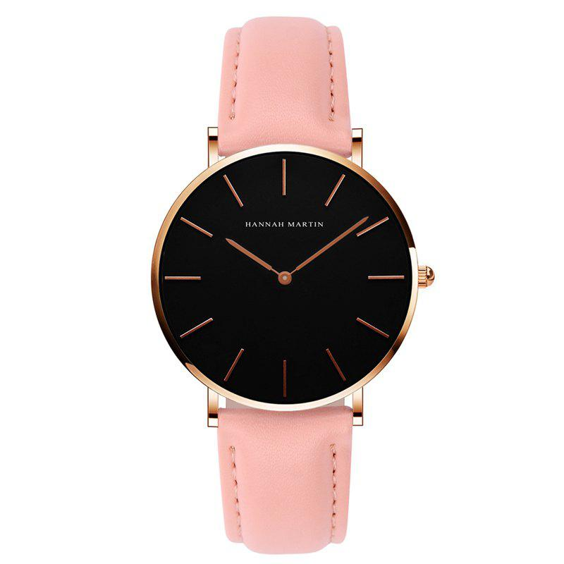 Hannah Martin CH36  Japanese Movement Waterproof Fashion Casual Ladies Quartz Watch - PINK/RED