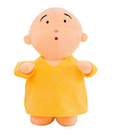 Girl Plush Doll Toy Creative Cute Monks Birthday Gift - YELLOW 20X12X30CM