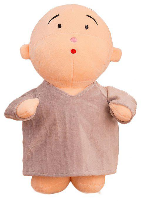 Girl Plush Doll Toy Creative Cute Monks Birthday Gift - GRAY 20X12X30CM