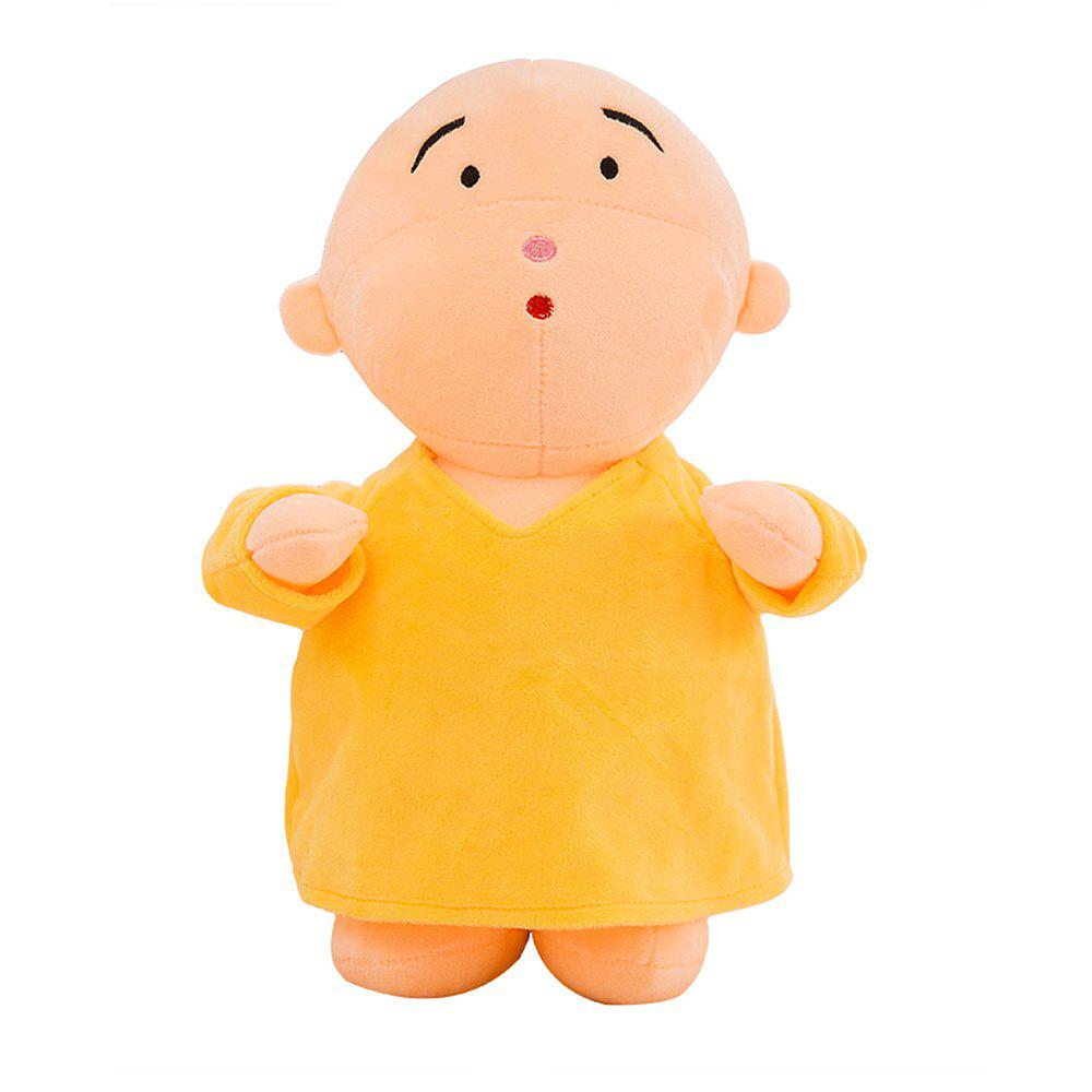 Girl Plush Doll Toy Creative Cute Monks Birthday Gift - YELLOW 30X15X50CM