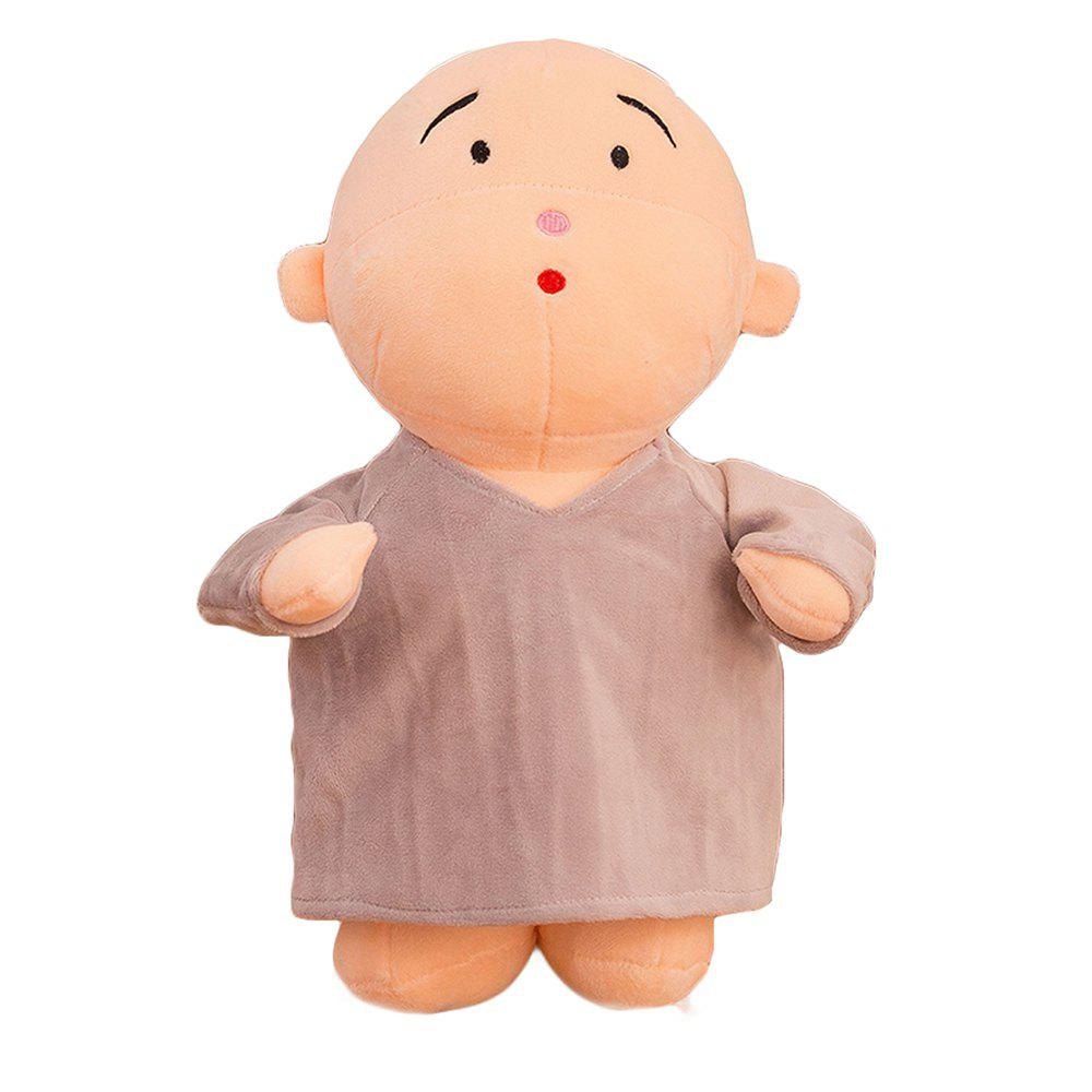 Girl Plush Doll Toy Creative Cute Monks Birthday Gift - GRAY 30X15X50CM