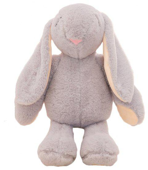 Girl Plush Doll Toy Creative Cute Rabbit Birthday Gift - GRAY 30X15X58CM