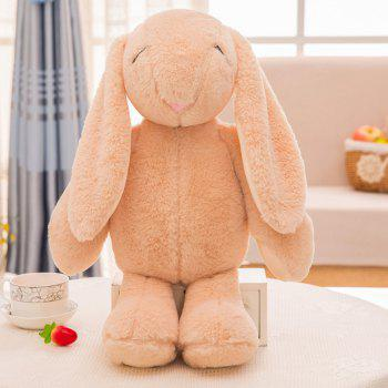 Girl Plush Doll Toy Creative Cute Rabbit Birthday Gift - BROWN 30X15X58CM