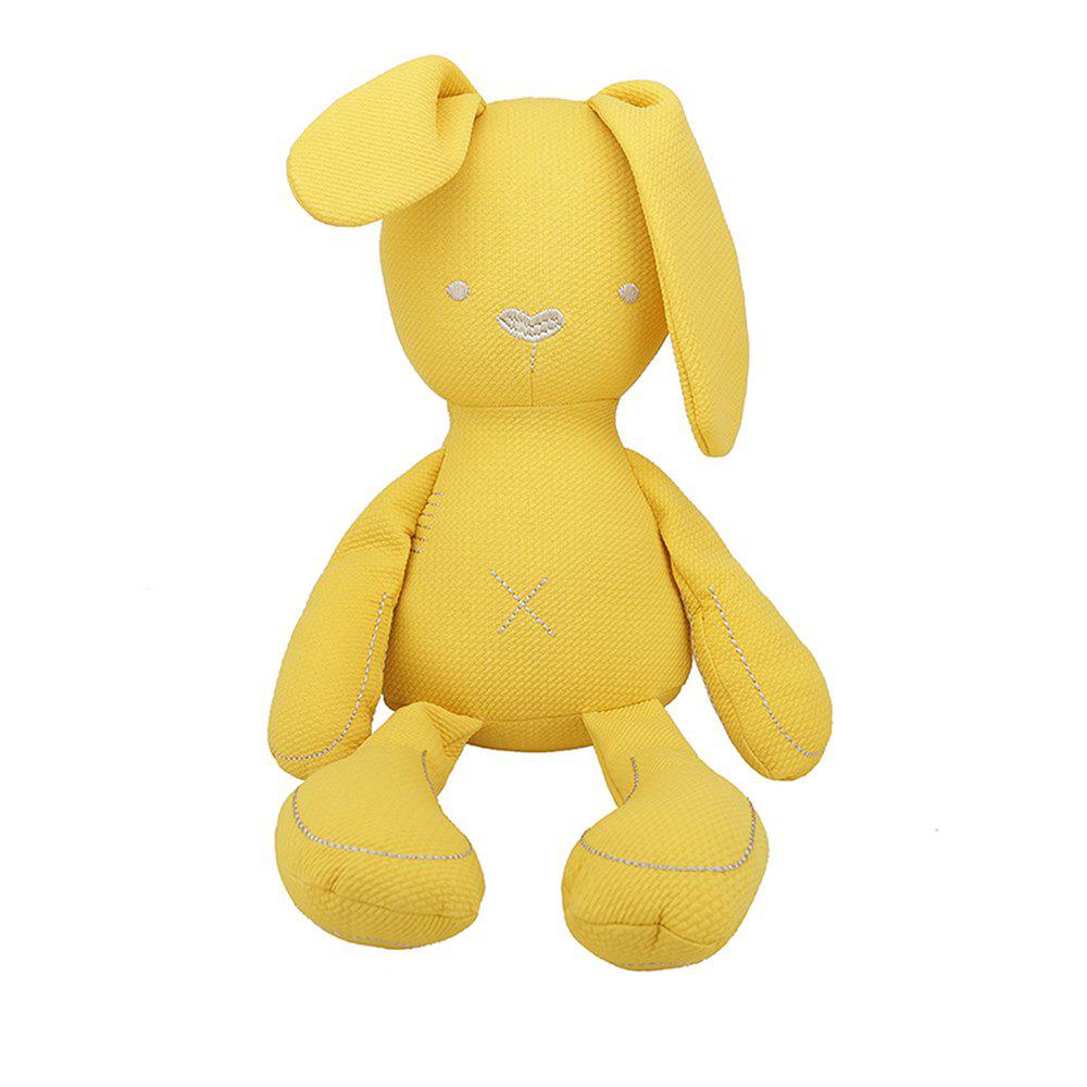 Girl Plush Rabbit Toy Birthday Gift - YELLOW 50X25X10CM