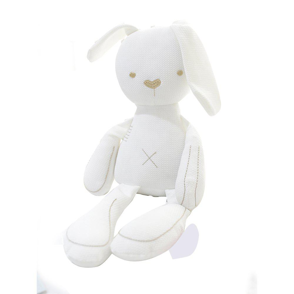 Girl Plush Rabbit Toy Birthday Gift - WHITE 50X25X10CM