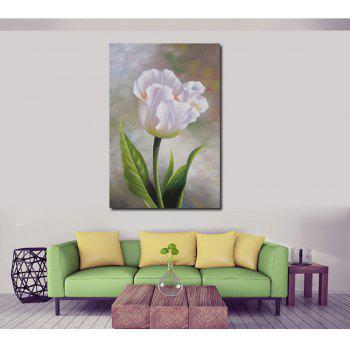 HD Printing Modern Decorative Impression Flower Bedroom Living Room Hotel Home Wall Art Painting - WHITE 12 X 16 INCH