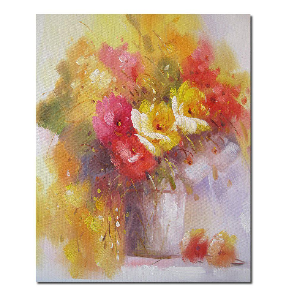 HD Printing Modern Decorative Impression Flower Bedroom Living Room Hotel Home Wall Art Painting - YELLOW 12 X 16 INCH