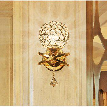 Crystal Creative European Style American Living Room Head Wall Lamp Staircase Passageway - SILVER