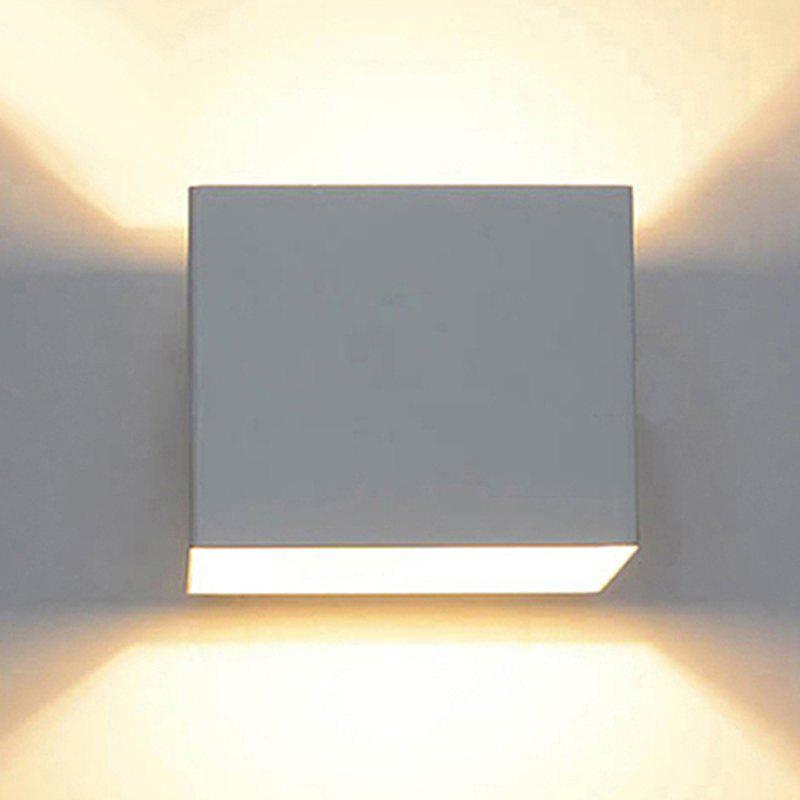 Bi-Directional Double Head Waterproof and Dimming LED Indoor Wall Lamp House - WHITE