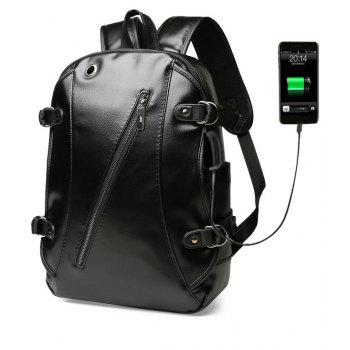 High Quality Practical PU Leather Men Backpack