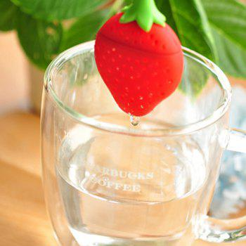 Strawberry Design Tea Infuser Strainer/ Suitable for Use in Teapot - RED