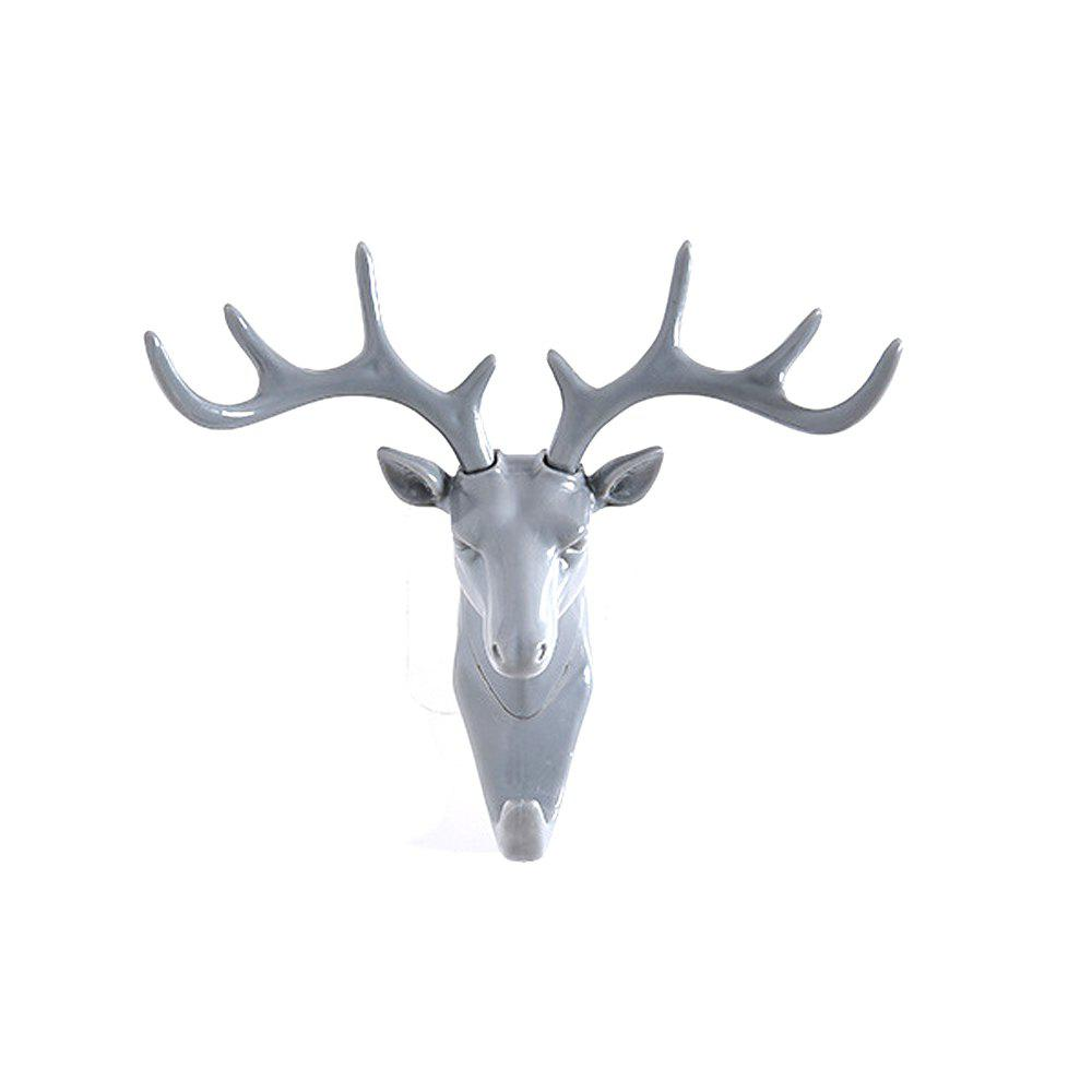 Mural Art Vintage Deer Head Antlers Wall Hook for Hanging Clothes Hat Scarf Key Deer Horns Hanger Rack Wall Decoration