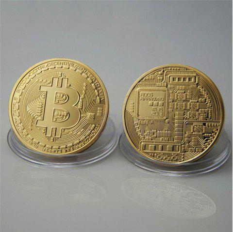 Bitcoin Memorial Circular Collector Coin - GOLD