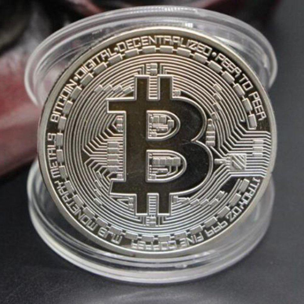 Bitcoin Memorial Circular Collector Coin - SILVER