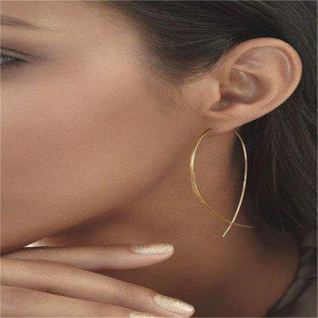 Simple Delicate Female Fish Shaped Earrings - GOLDEN