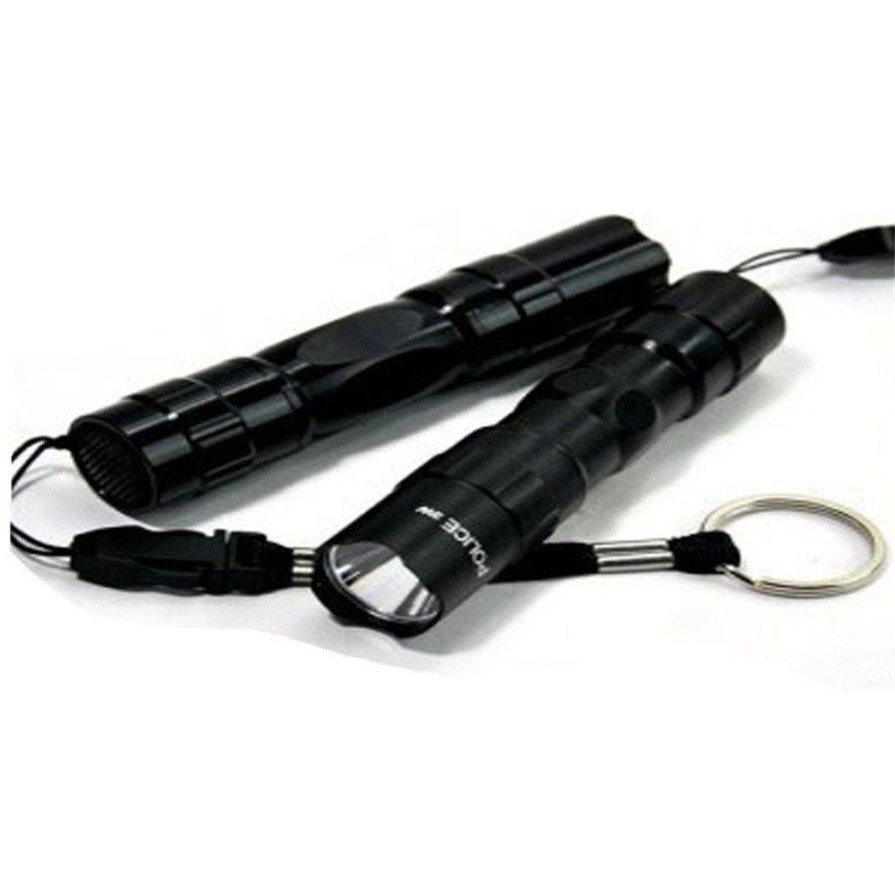 Waterproof LED Mini Flashlight Black - BLACK