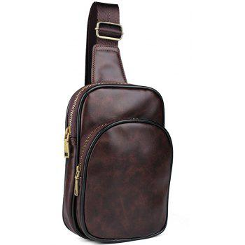 Fashion General Simple Business Casual Men's Breast Bags - BROWN