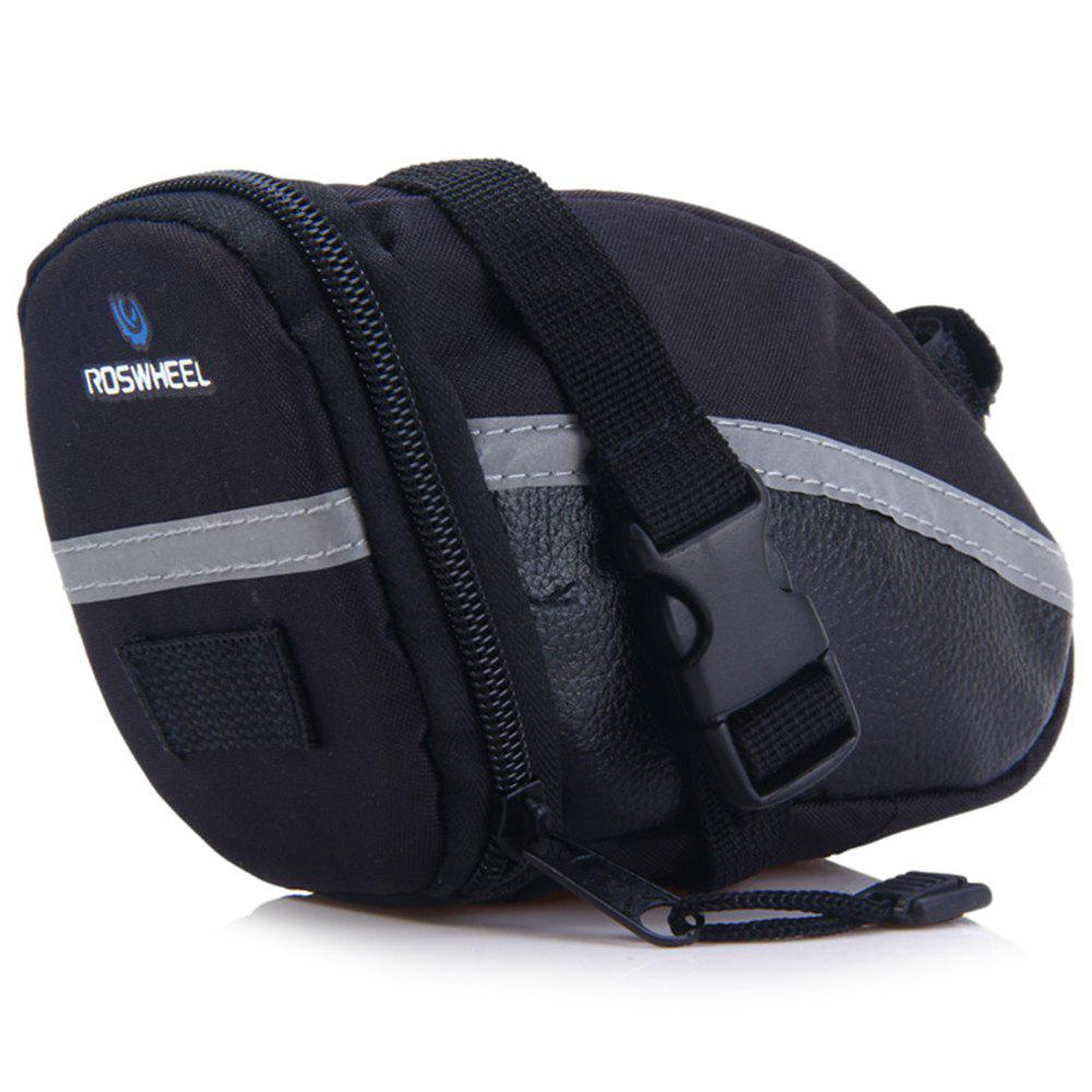 ROSWHEEL 13196 Bicycle Saddle Bag for Outdoor Cycling  -  BLACK - BLACK