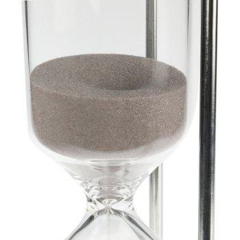 60 Minutes Metal Hourglass Glass Timer - SILVER