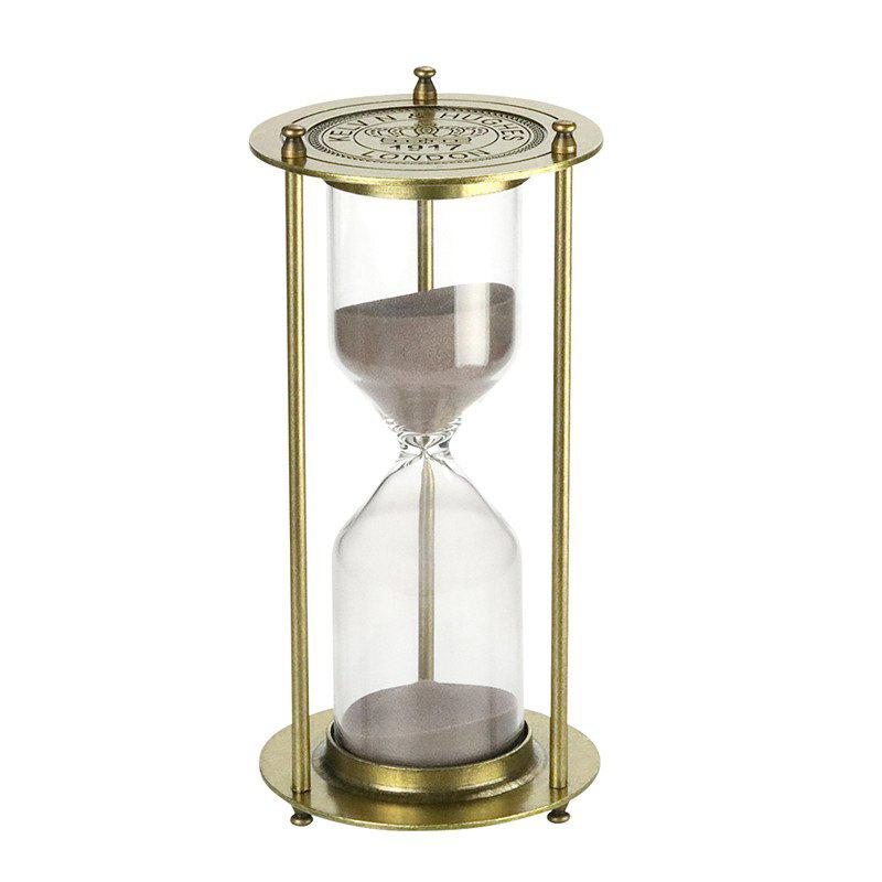 60 Minutes Metal Hourglass Glass Timer - BRONZED