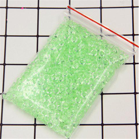 Fishbowl Beads for Crunchy Plastic Clear Vase Filler Fish Bowl for Homemade Slime Kid's Arts DIY - GREEN PLASTIC BAND