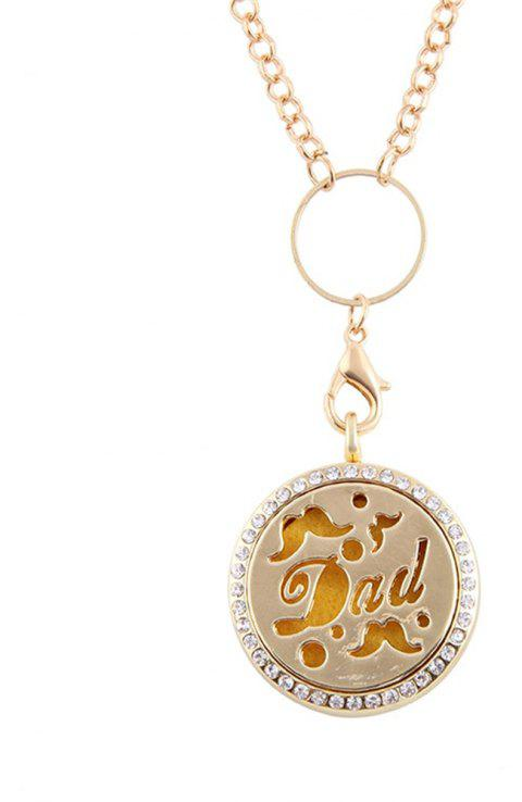 Newly Floating with Dad Pendant - GOLD SIZE 3