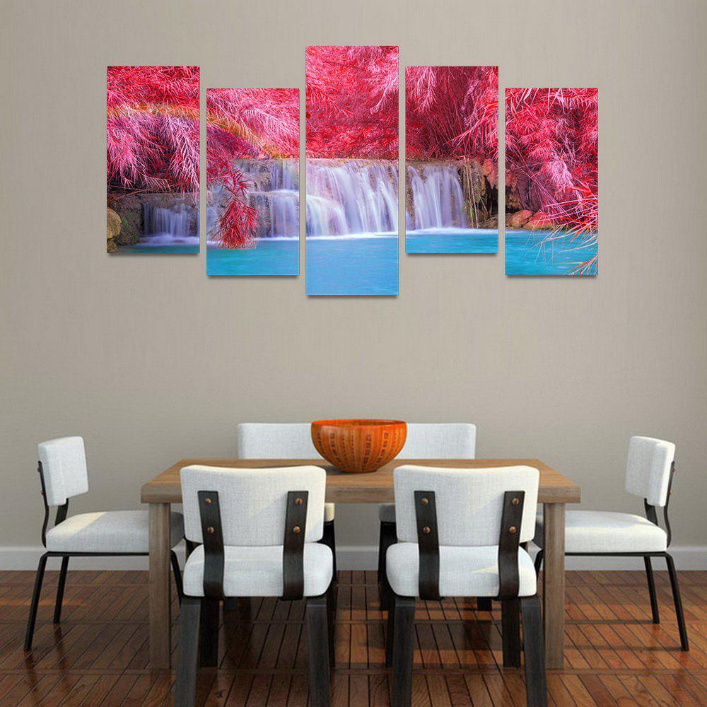MailingArt FIV195  5 Panels Landscape Wall Art Painting Home Decor Canvas Print - COLORMIX 30X60CM 4PCS + 30X80CM 1PC   12X24INCH 4PCS + 12X3