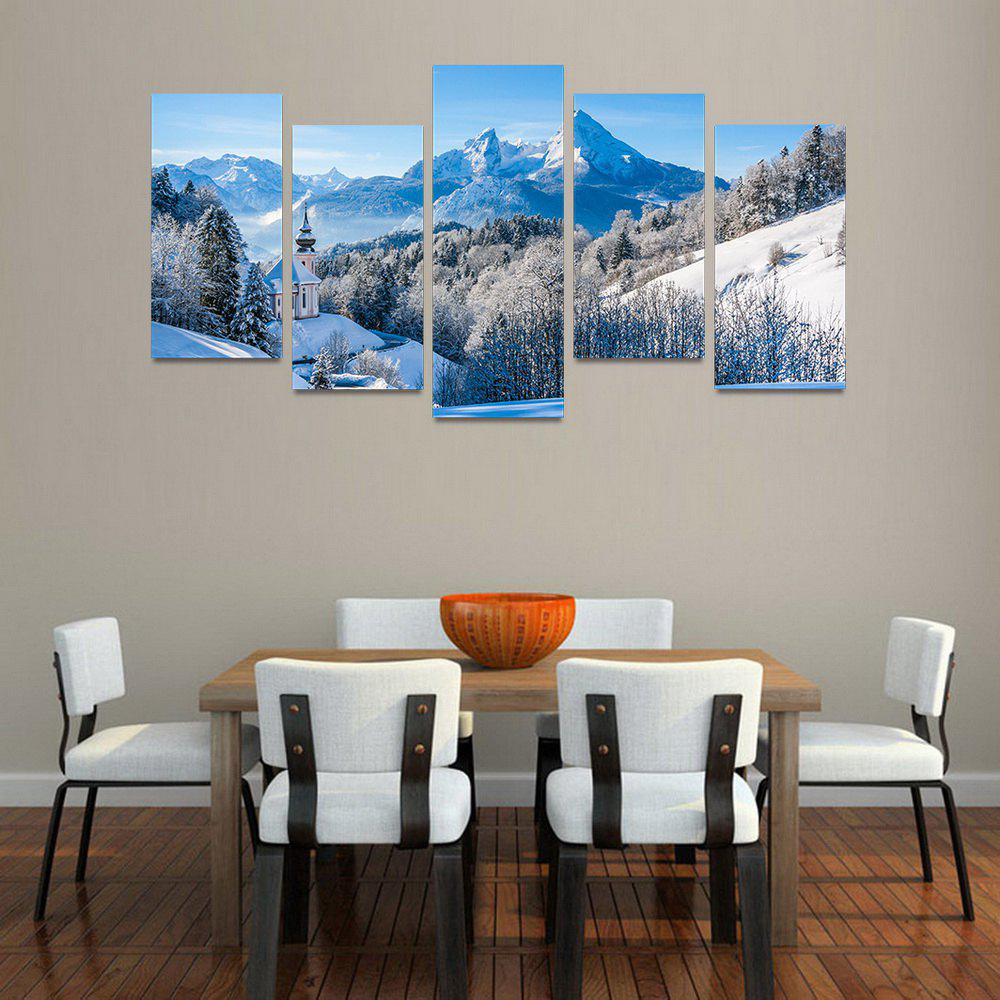 MailingArt FIV197  5 Panels Landscape Wall Art Painting Home Decor Canvas Print - COLORMIX 30X60CM 4PCS + 30X80CM 1PC   12X24INCH 4PCS + 12X3