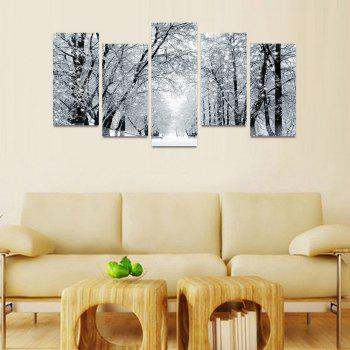 MailingArt FIV198  5 Panels Landscape Wall Art Painting Home Decor Canvas Print - COLORMIX 30X60CM 4PCS + 30X80CM 1PC   12X24INCH 4PCS + 12X3