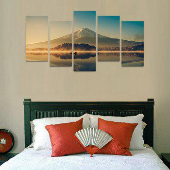 MailingArt FIV200 5 Panels Landscape Wall Art Painting Home Decor Canvas Print - COLORMIX 30X60CM 4PCS + 30X80CM 1PC   12X24INCH 4PCS + 12X3