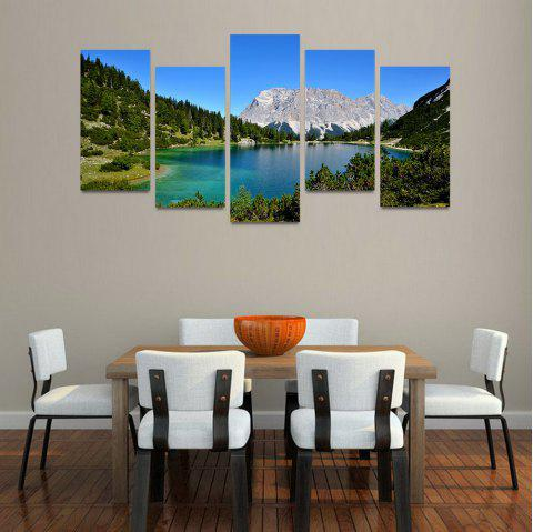 MailingArt FIV202  5 Panels Landscape Wall Art Painting Home Decor Canvas Print - multicolor 30X60CM 4PCS + 30X80CM 1PC   12X24INCH 4PCS + 12X3