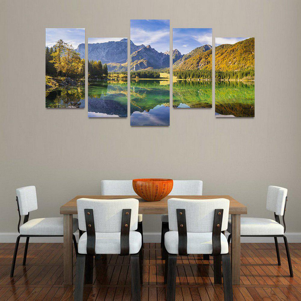 MailingArt FIV204  5 Panels Landscape Wall Art Painting Home Decor Canvas Print - COLORMIX 30X60CM 4PCS + 30X80CM 1PC   12X24INCH 4PCS + 12X3