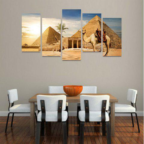MailingArt FIV209  5 Panels Landscape Wall Art Painting Home Decor Canvas Print - multicolor 30X60CM 4PCS + 30X80CM 1PC   12X24INCH 4PCS + 12X3