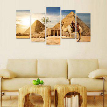 MailingArt FIV209  5 Panels Landscape Wall Art Painting Home Decor Canvas Print - COLORMIX 30X60CM 4PCS + 30X80CM 1PC   12X24INCH 4PCS + 12X3